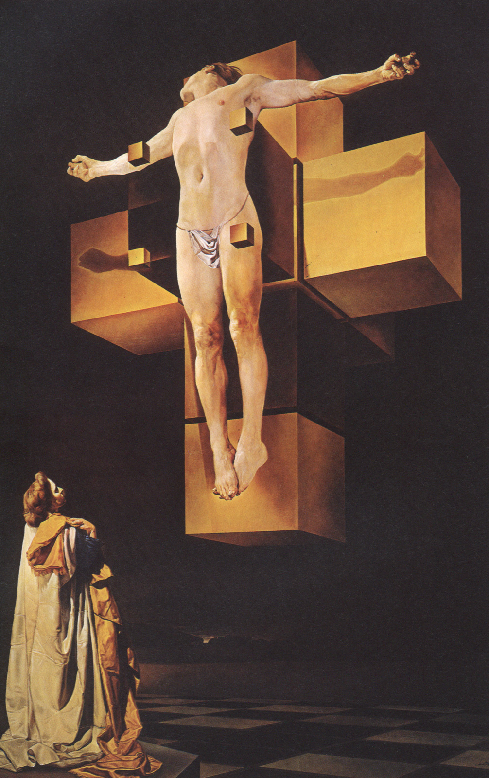 Распятие. Гиперкубическое тело 1954